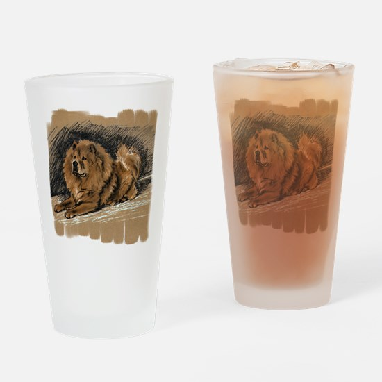 Vintage Chow Chow Drinking Glass
