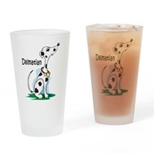 Dalmatian Cartoon Drinking Glass