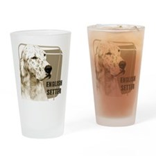 English Setter Vintage Drinking Glass
