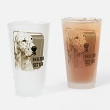 English Setter Vintage Drinking Glass