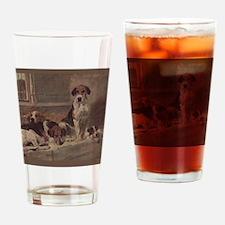 Cute English foxhound Drinking Glass