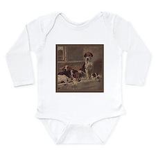 Cute English foxhound Long Sleeve Infant Bodysuit