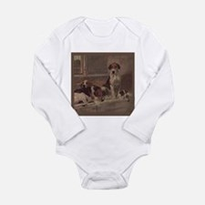 Cute English foxhound Long Sleeve Infant Bodysuit