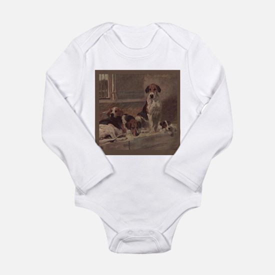 Cute American foxhound Long Sleeve Infant Bodysuit
