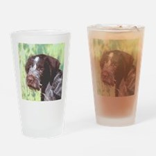 German Wirehaired Pointer Drinking Glass