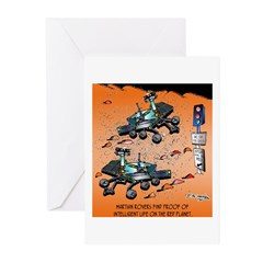 Traffic On Mars Greeting Cards (Pk of 10)