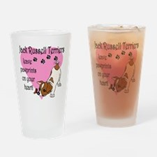 Jack Russell Terrier Pawprint Drinking Glass