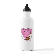 Jack Russell Terrier Pawprint Water Bottle