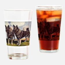 Cute Elkhound Drinking Glass