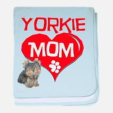 Yorkie Mom baby blanket