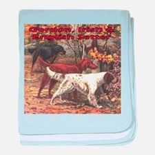 Cute English setter baby blanket