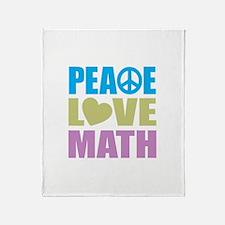 Peace Love Math Throw Blanket