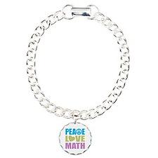 Peace Love Math Bracelet
