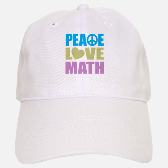 Peace Love Math Baseball Baseball Cap