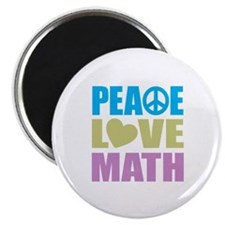 "Peace Love Math 2.25"" Magnet (10 pack)"