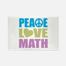 Peace Love Math Rectangle Magnet (10 pack)