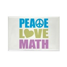 Peace Love Math Rectangle Magnet