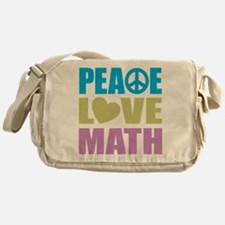 Peace Love Math Messenger Bag