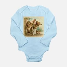 Vintage Monkeys Long Sleeve Infant Bodysuit