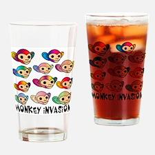 Monkey Invasion Drinking Glass