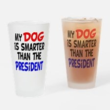 Dog Smarter Than-2 Drinking Glass