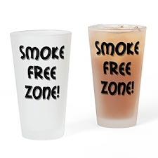 Smoke Free Zone! Drinking Glass
