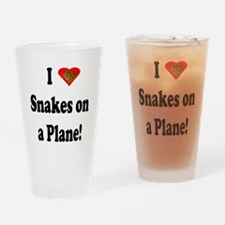 I Heart Snakes on a Plane! Drinking Glass