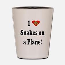 I Heart Snakes on a Plane! Shot Glass