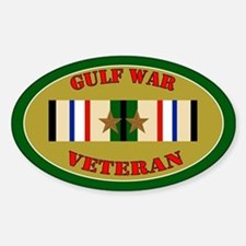 Gulf War 2 Campaign Stars Sticker (Oval)