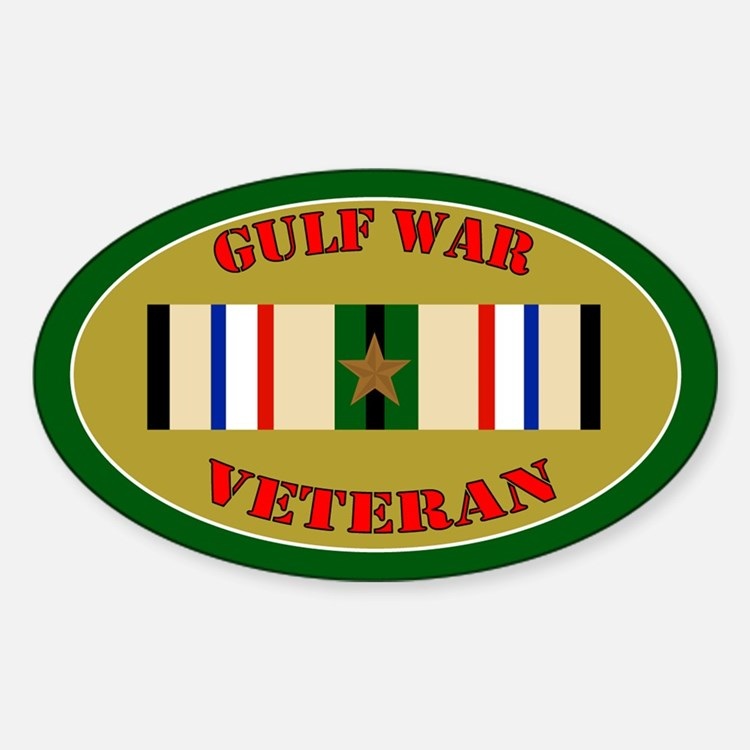 Gulf War 1 Campaign Star Sticker (Oval)