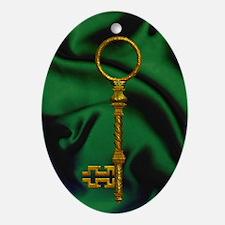 Harvest Moon's Skeleton Key Ornament (Oval)