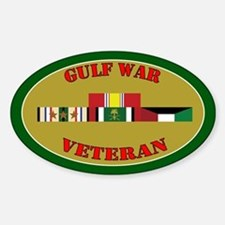 Gulf War 3 Campaign Stars Sticker (Oval)