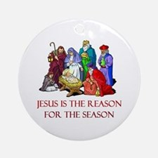 Christmas Jesus is the reason for the season Ornam
