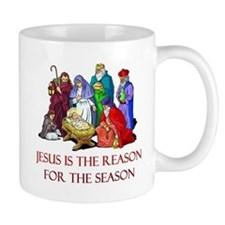 Christmas Jesus is the reason for the season Mug