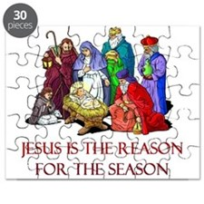 Christmas Jesus is the reason for the season Puzzl