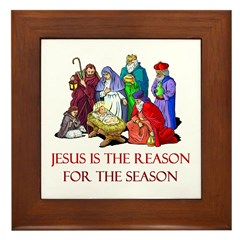 Christmas Jesus is the reason for the season Frame