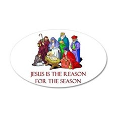 Christmas Jesus is the reason for the season Wall Decal