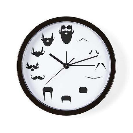 Honey Badger & Moustache Cloc Wall Clock