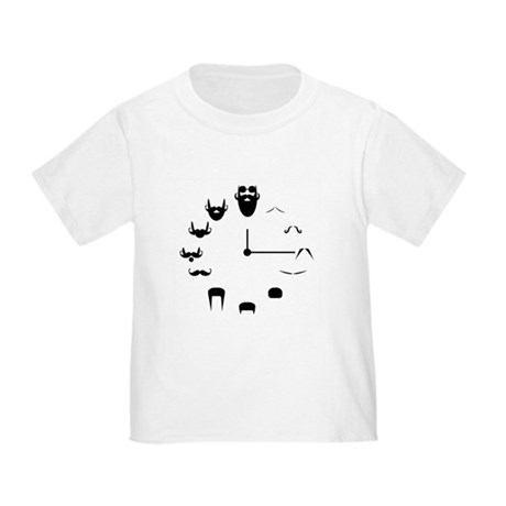 Honey Badger & Moustache Cloc Toddler T-Shirt