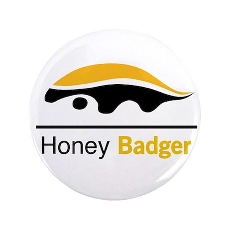 """Honey Badger & Moustache Cloc 3.5"""" Button (100 pac"""