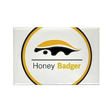 Honey Badger & Moustache Cloc Rectangle Magnet
