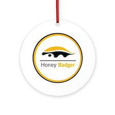Honey Badger & Moustache Cloc Ornament (Round)