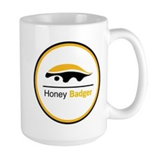 Honey Badger & Moustache Cloc Mug