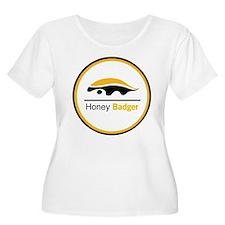 Honey Badger & Moustache Cloc T-Shirt