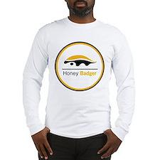 Honey Badger & Moustache Cloc Long Sleeve T-Shirt