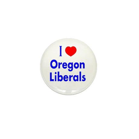 I Love Oregon Liberals Mini Button (10 pack)