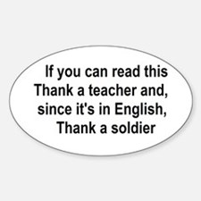 Thank a Teacher Oval Decal