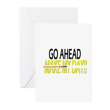 go ahead make my day Greeting Cards (Pk of 20)