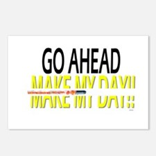 go ahead make my day Postcards (Package of 8)