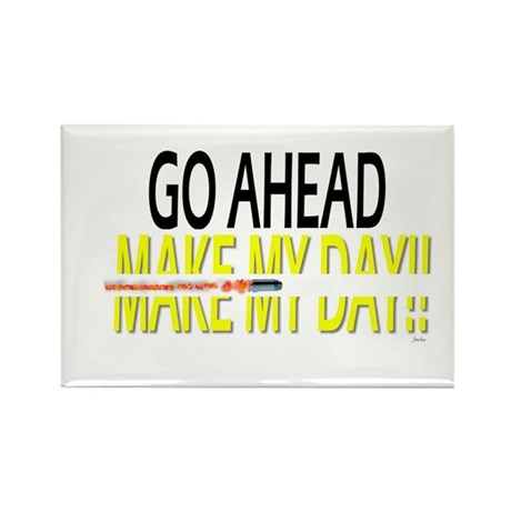 go ahead make my day Rectangle Magnet (10 pack)